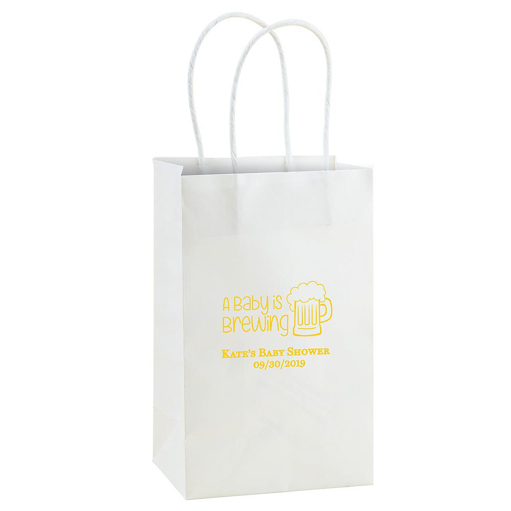 Personalized Medium Baby Shower Kraft Bags Image #1