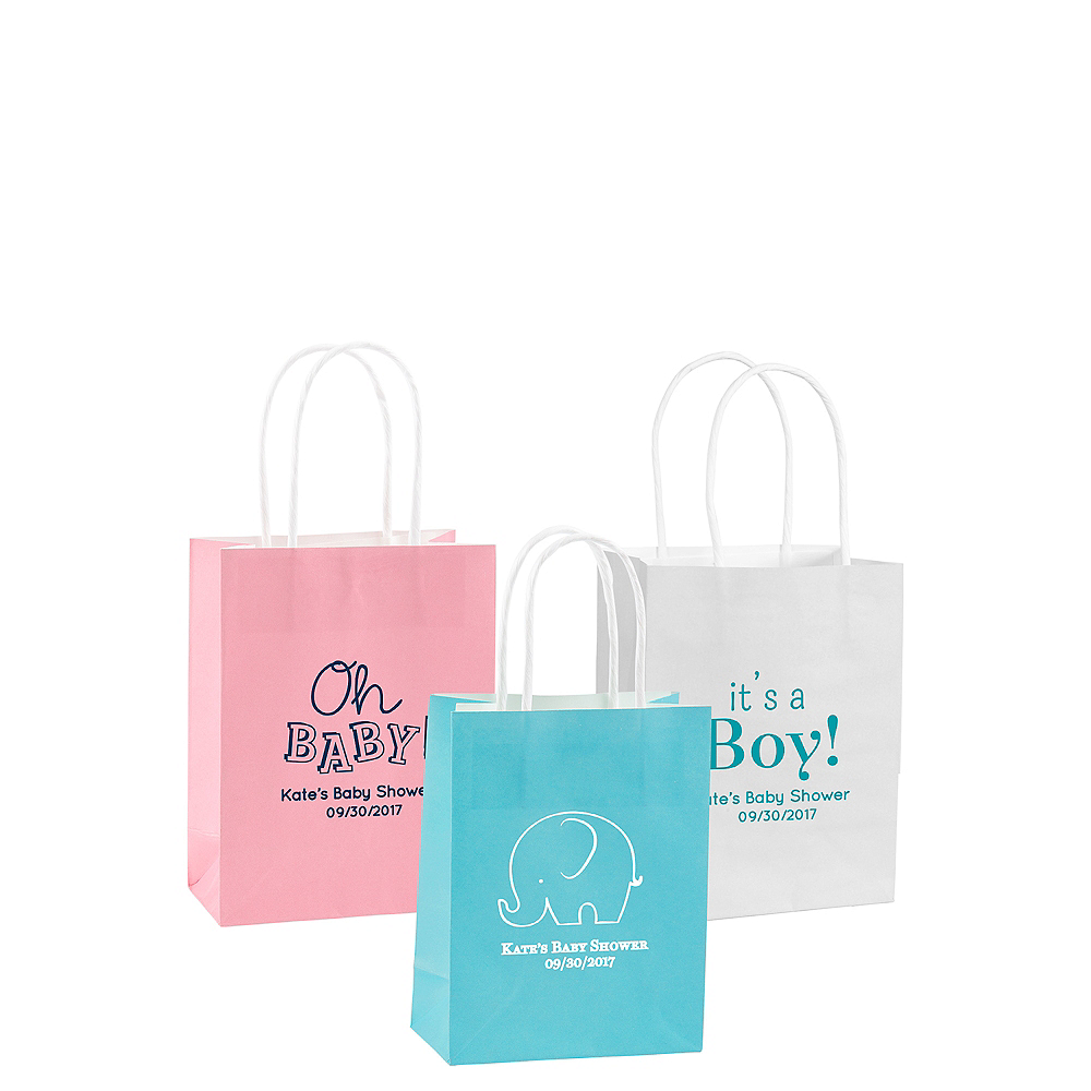 Personalized Small Baby Shower Kraft Bags Image #1