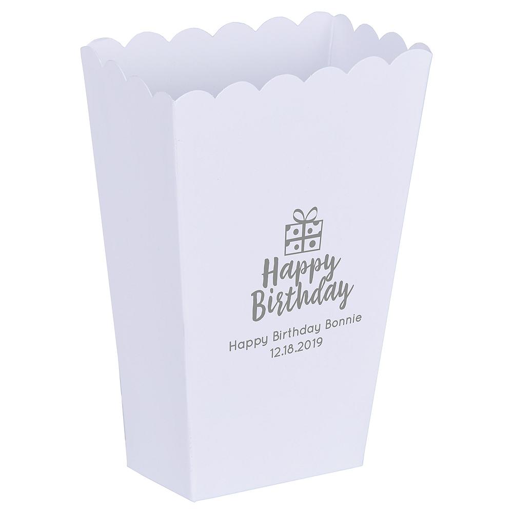 Personalized Mini Birthday Popcorn Treat Boxes Image #1