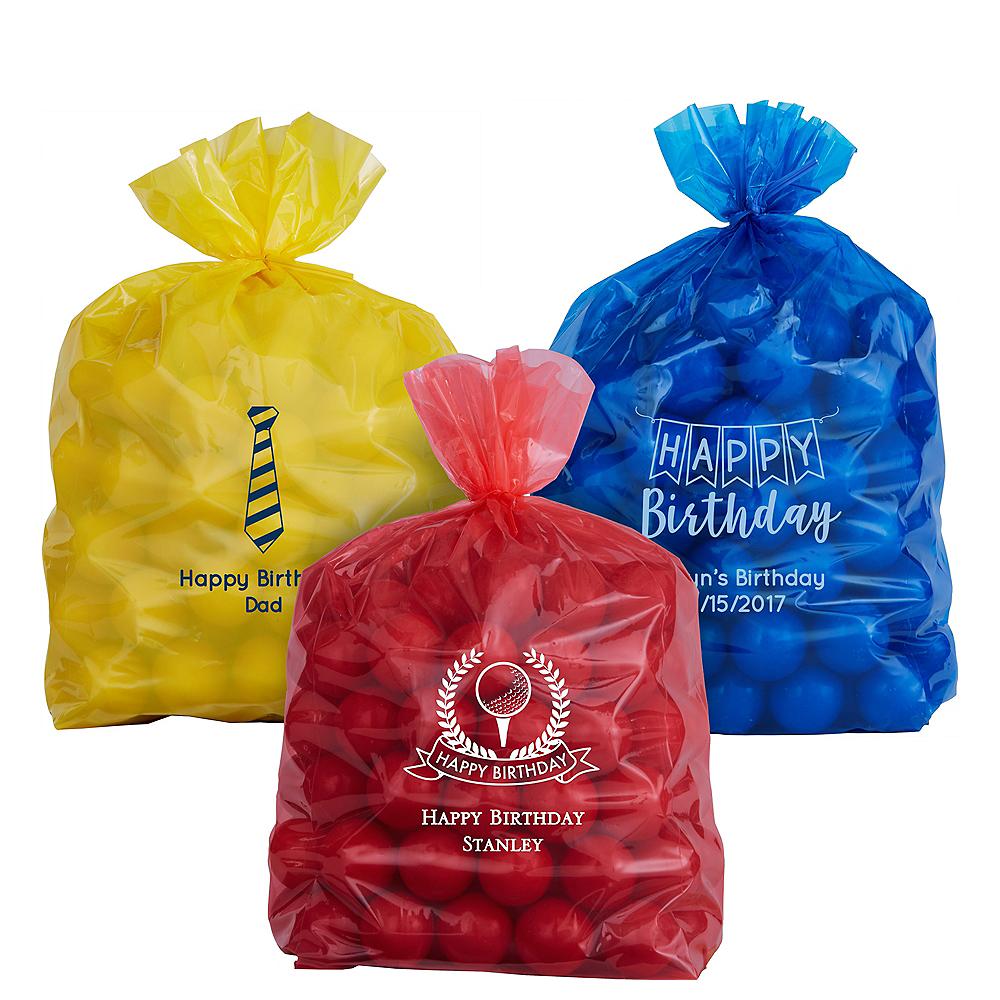 Personalized Medium Birthday Plastic Treat Bags Image #1