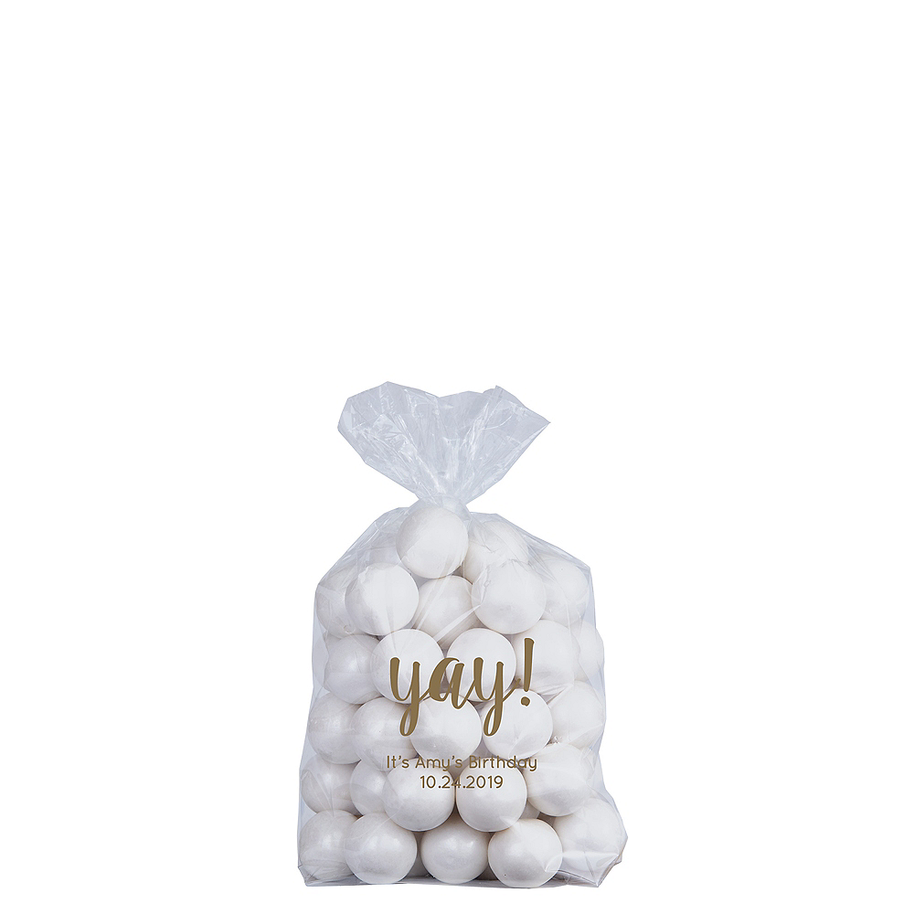 Personalized Small Birthday Plastic Treat Bags Image #1
