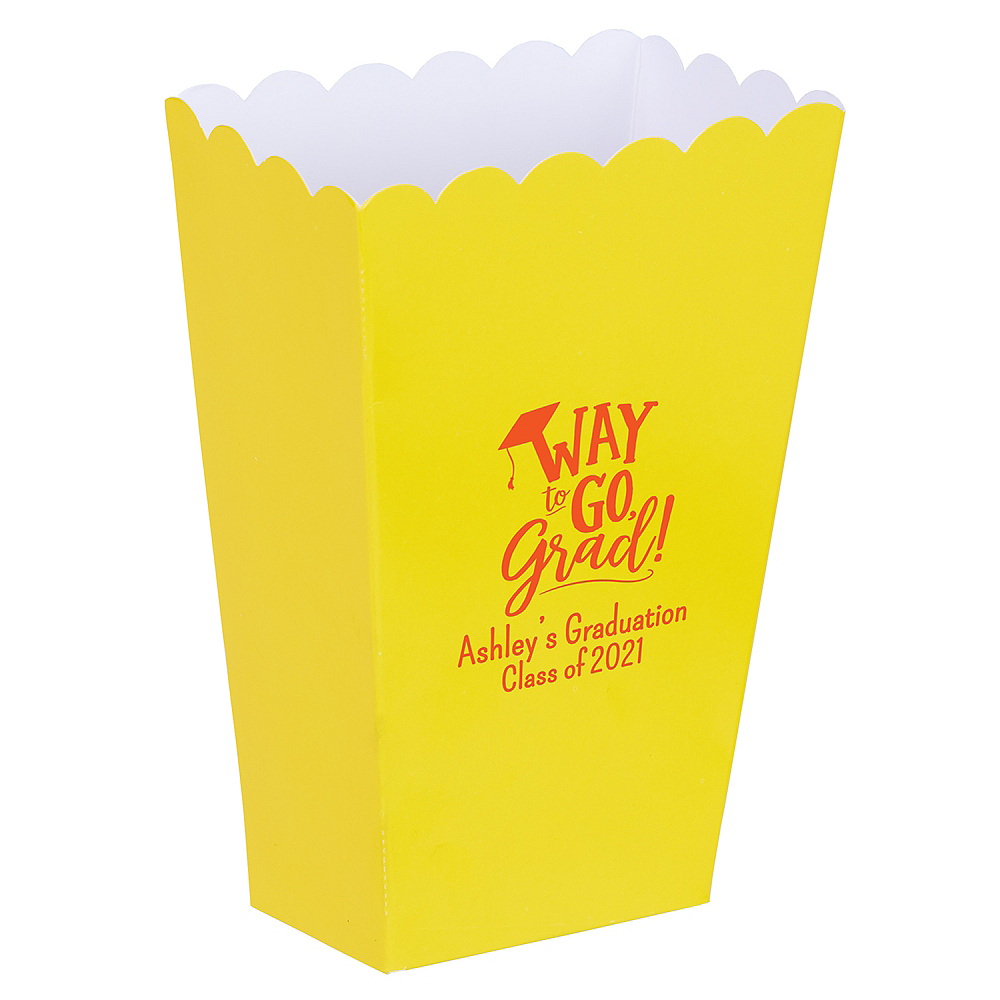Personalized Mini Graduation Popcorn Treat Boxes    Image #1