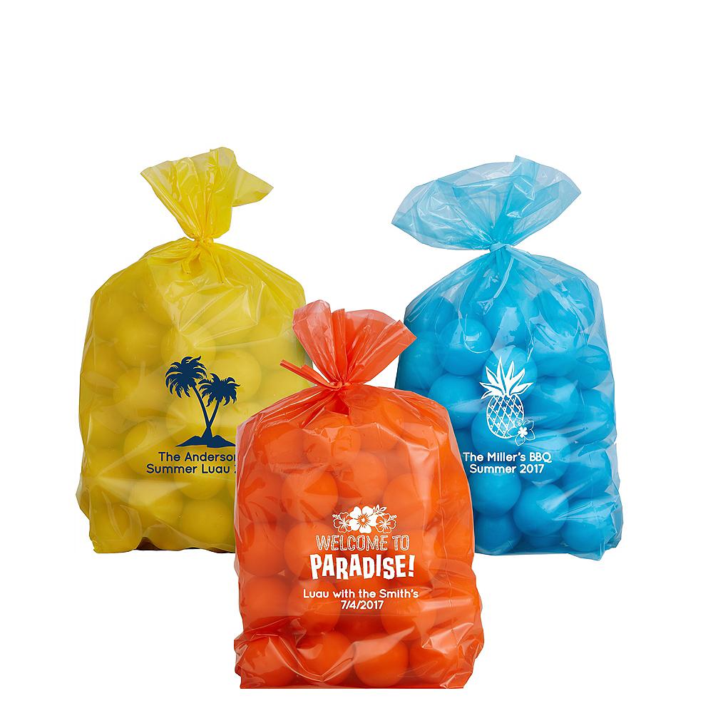 Personalized Small Luau Plastic Treat Bags Image #1