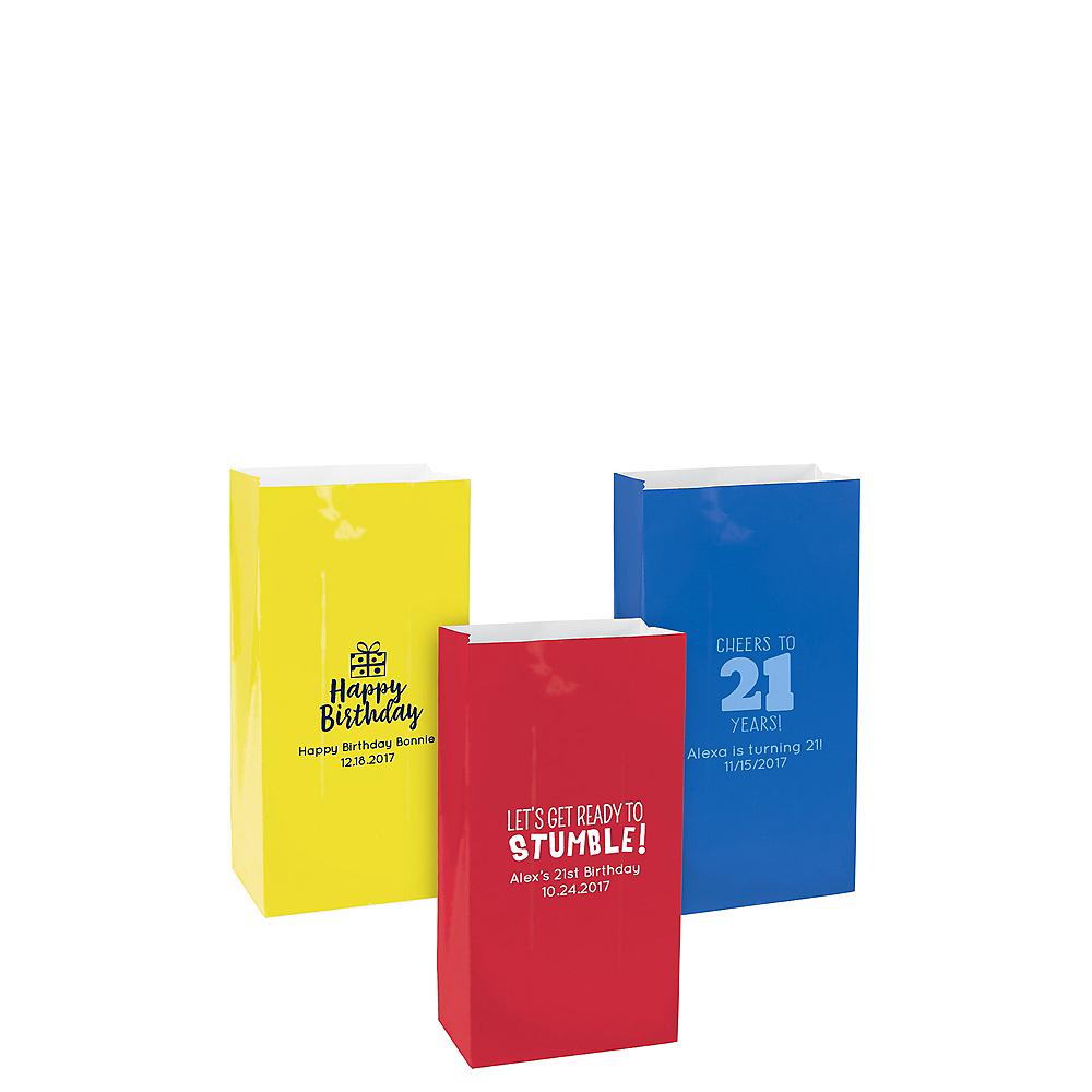 Personalized Mini Milestone Birthday Paper Treat Bags Image #1