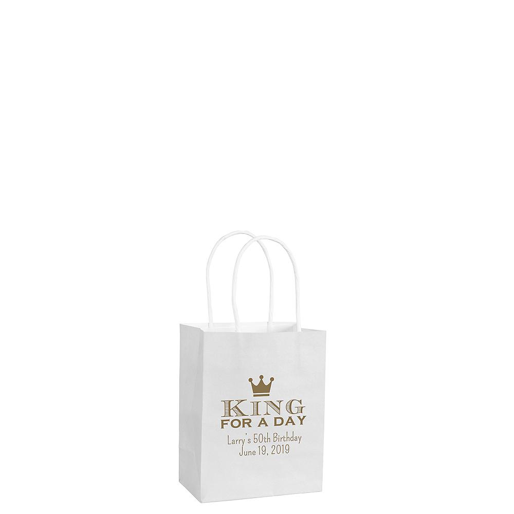 Personalized Small Milestone Birthday Kraft Bags Image #1