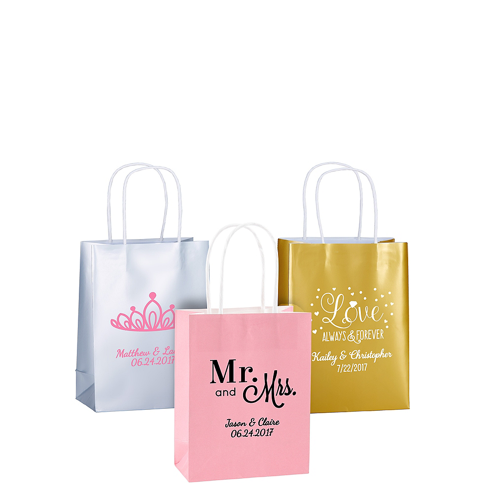 Personalized Small Wedding Kraft Bags Image 1