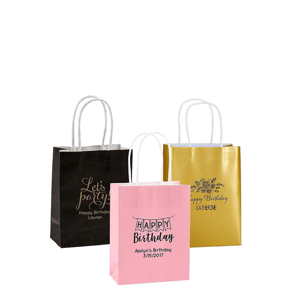 Personalized Small Birthday Kraft Bags Image #1