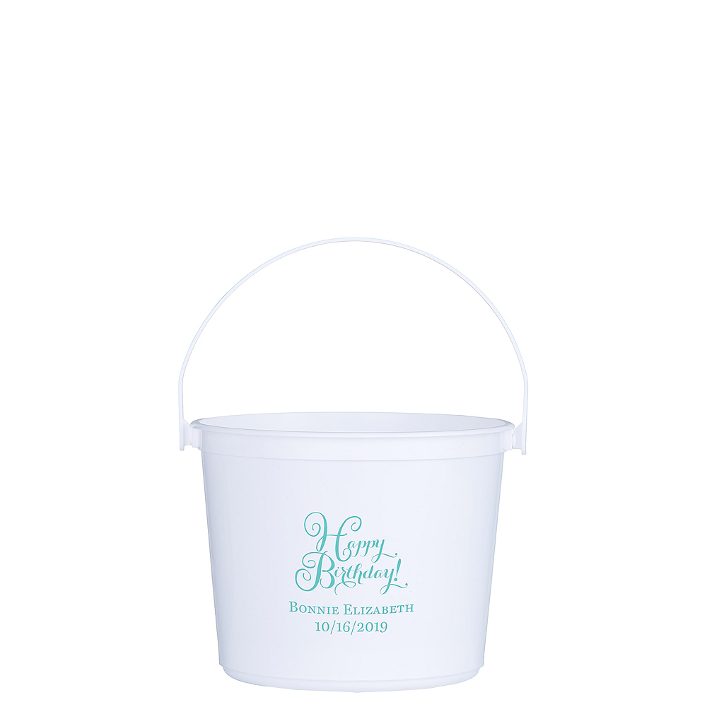 Personalized Girls Birthday Favor Containers Image #1