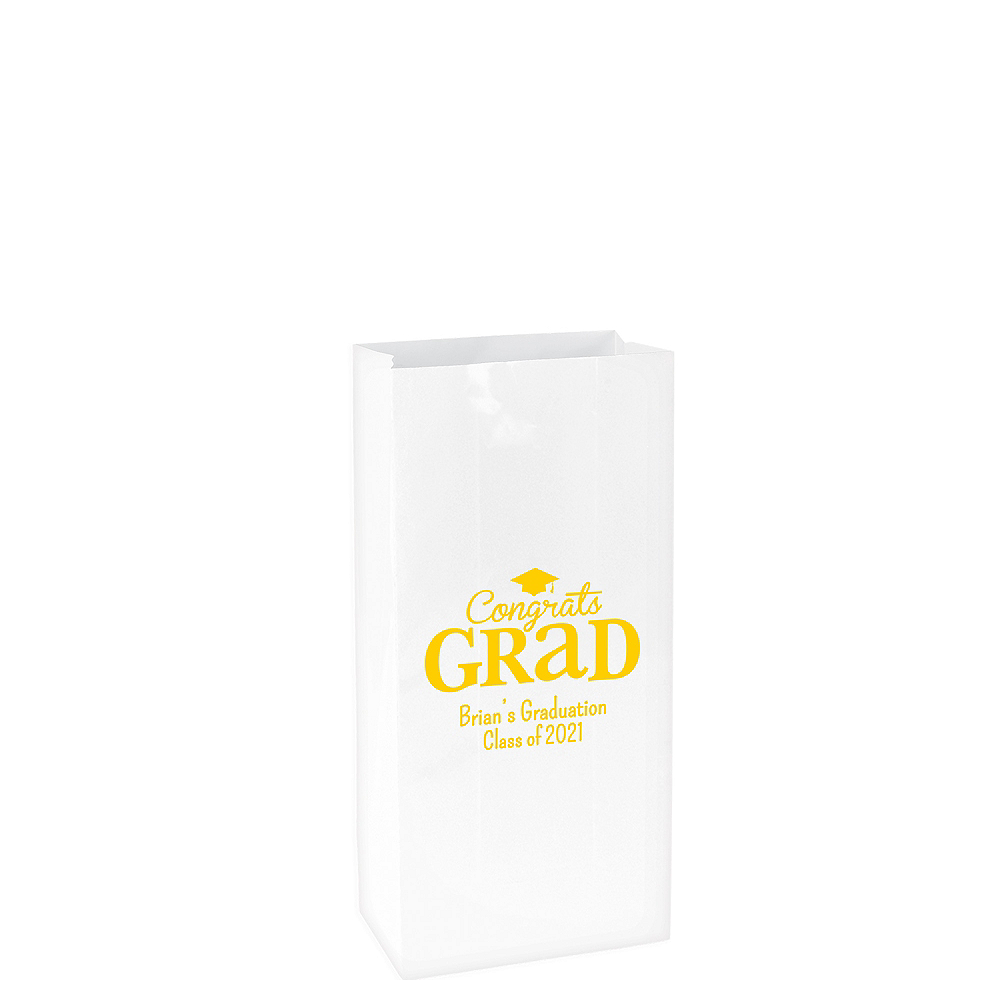 Personalized Medium Graduation Paper Treat Bags  Image #1