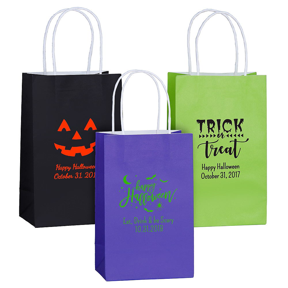 Personalized Medium Halloween Kraft Bags Image #1