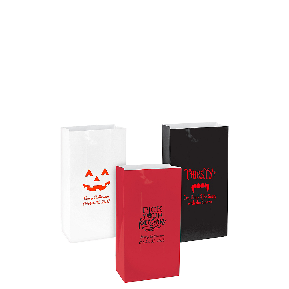 Personalized Mini Halloween Paper Treat Bags Image #1