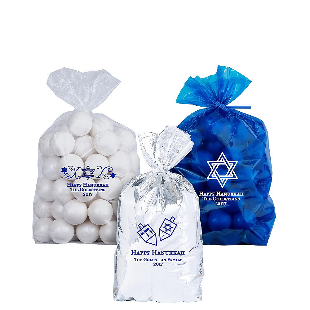 Personalized Small Hanukkah Plastic Treat Bags Image #1