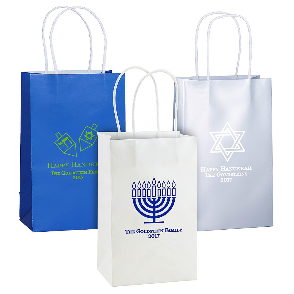 Personalized Medium Hanukkah Kraft Bags Image #1