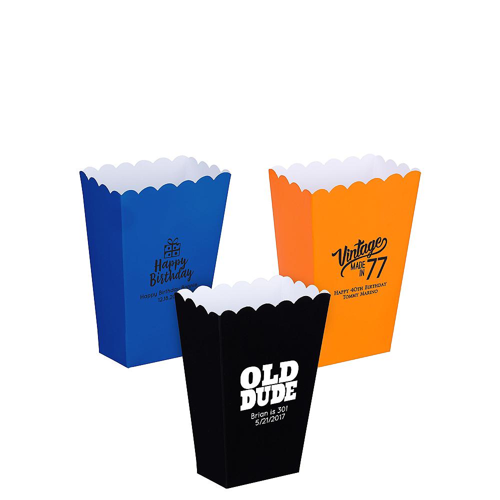 Personalized Mini Milestone Birthday Popcorn Treat Boxes Image #1