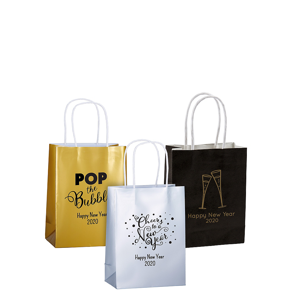 Personalized Small New Year's Kraft Bags Image #1