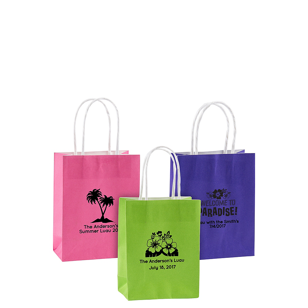 Personalized Small Summer Kraft Bags Image 1