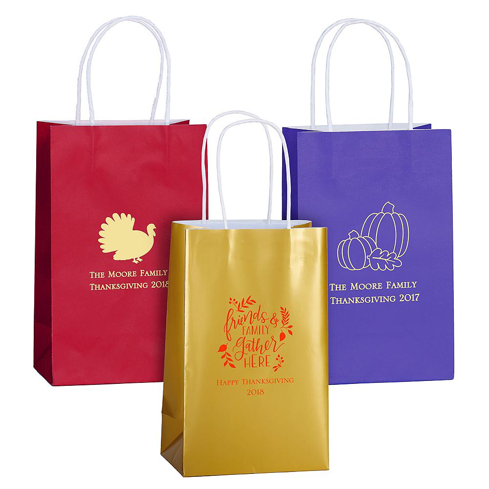 Personalized Medium Thanksgiving Kraft Bags Image #1
