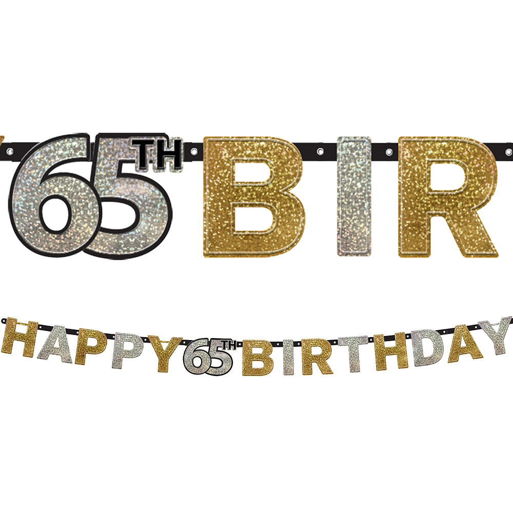 Prismatic 65th Birthday Banner