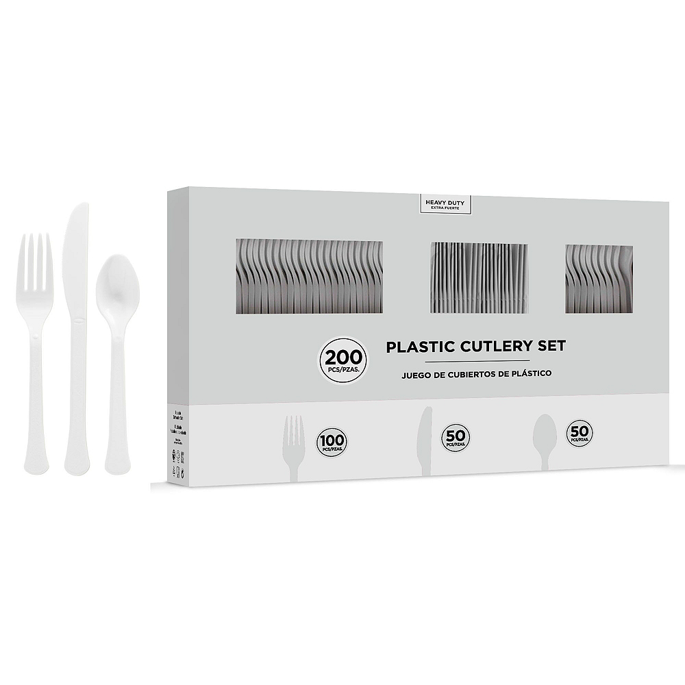 CLEAR Plastic Tableware Kit for 50 Guests Image #7