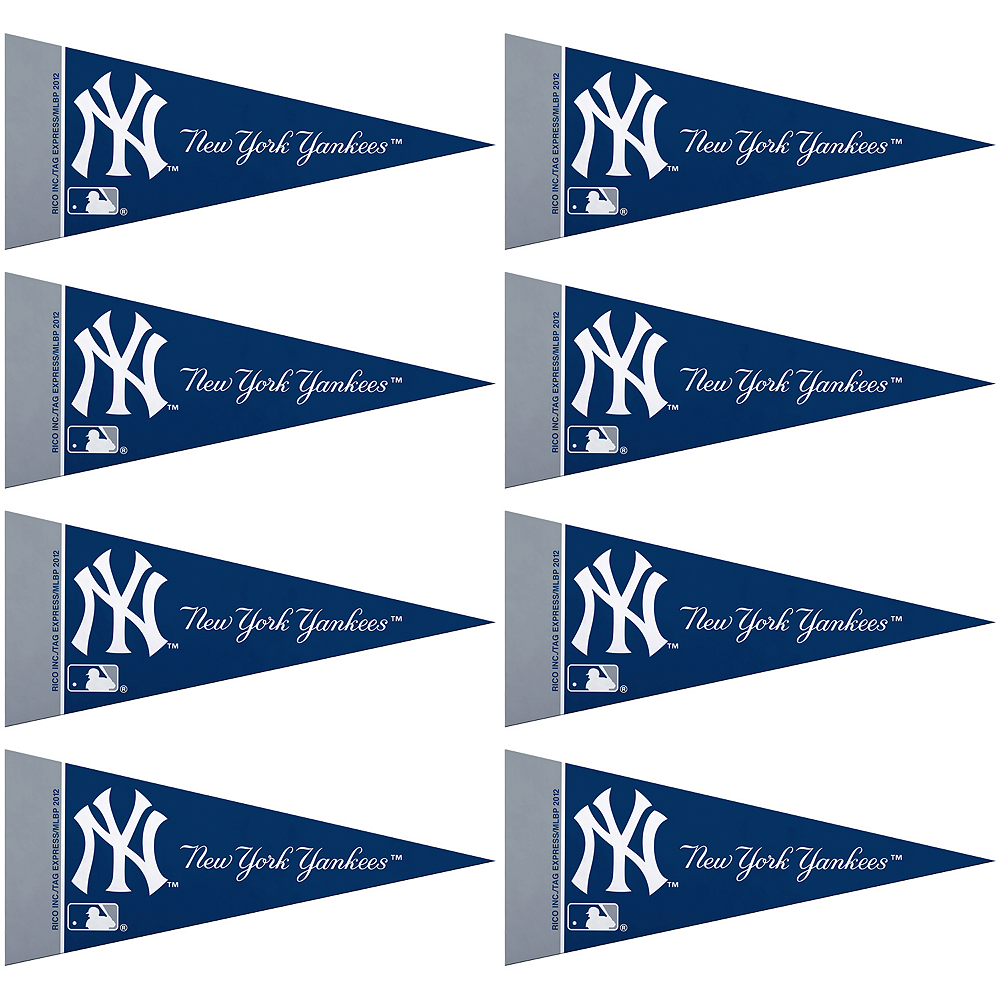 Mini New York Yankees Pennant Flags 8ct Image #1