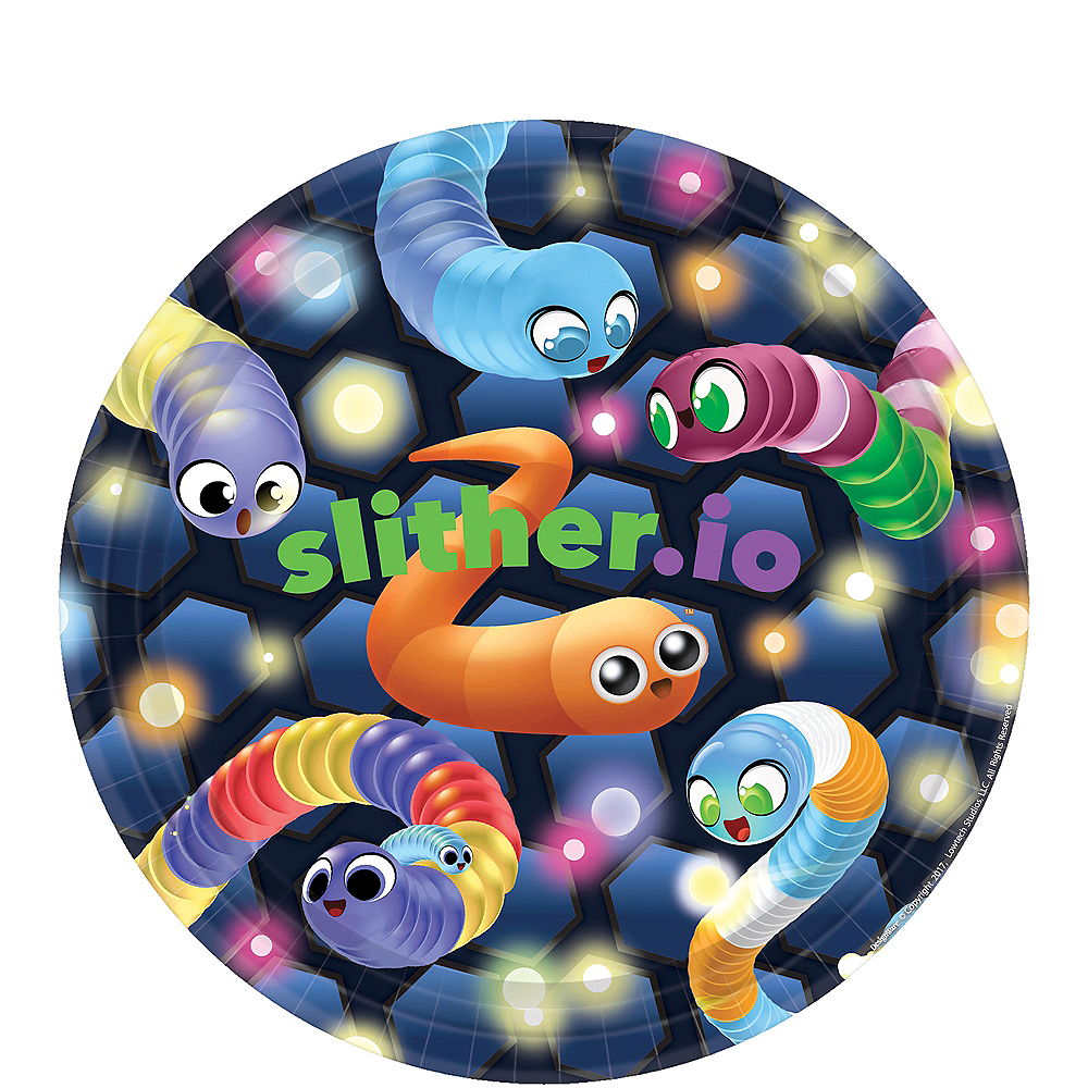 Slither.io Lunch Plates 8ct Image #1