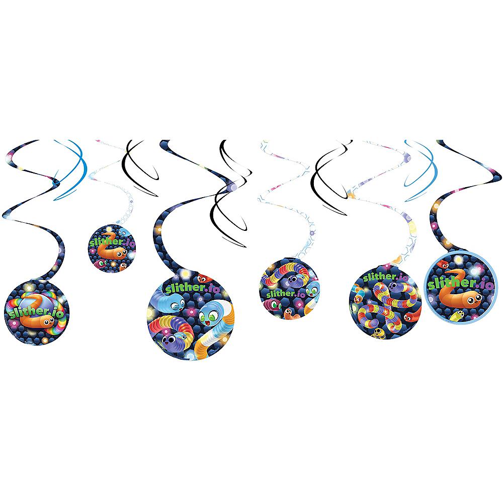 Slither.io Swirl Decorations 8ct Image #1