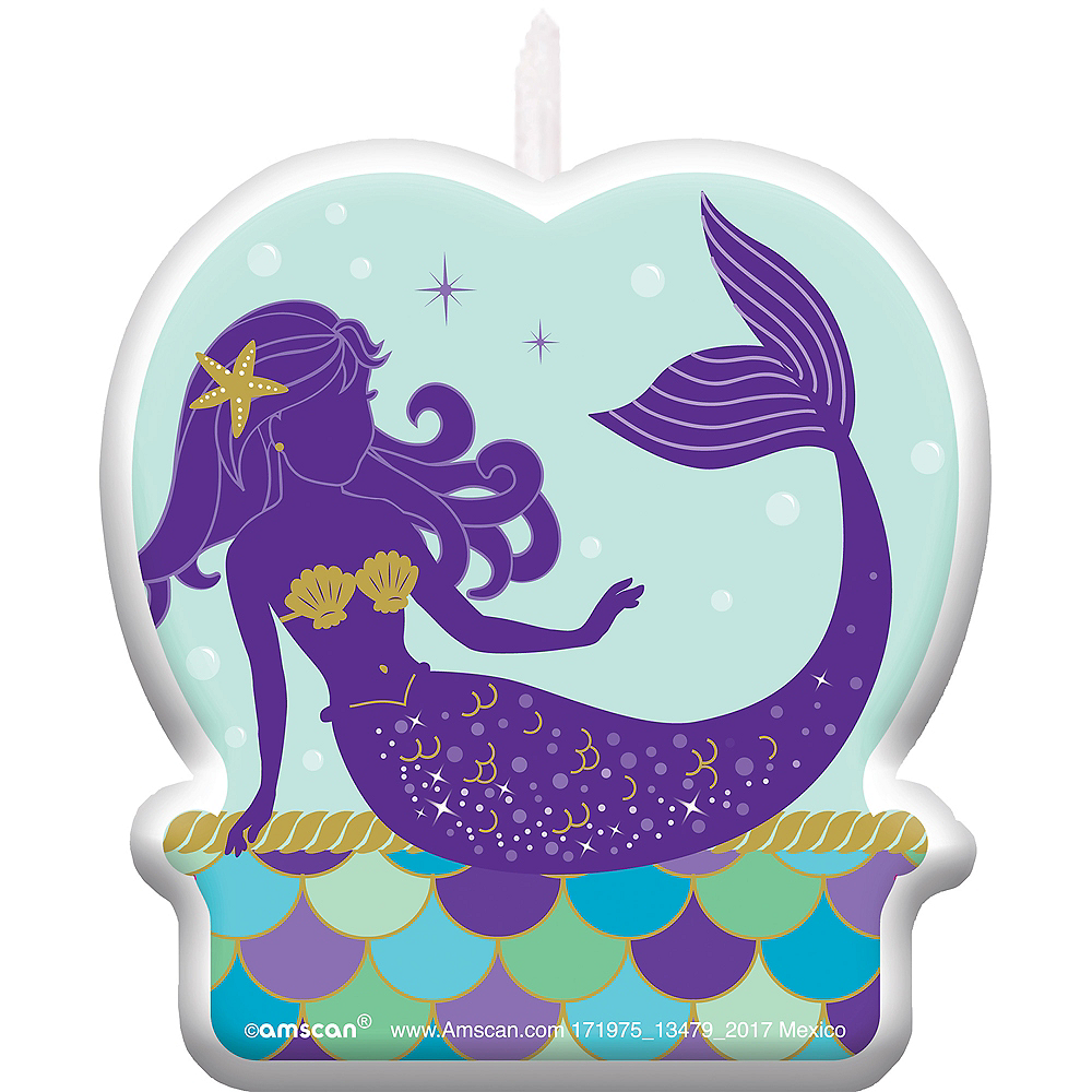 Wishful Mermaid Birthday Candle Image 1