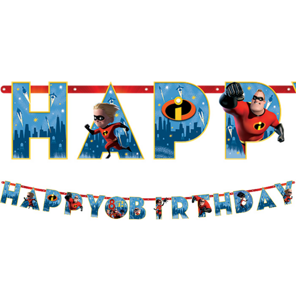 Incredibles 2 Birthday Banner Kit Image 1