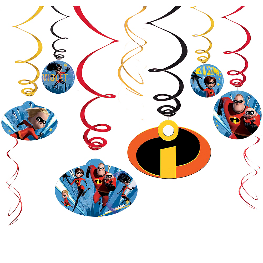 Incredibles 2 Swirl Decorations 12ct Image #1