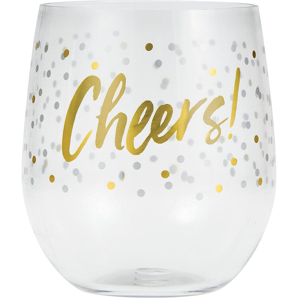 Cheers Plastic Stemless Wine Glass Image #1