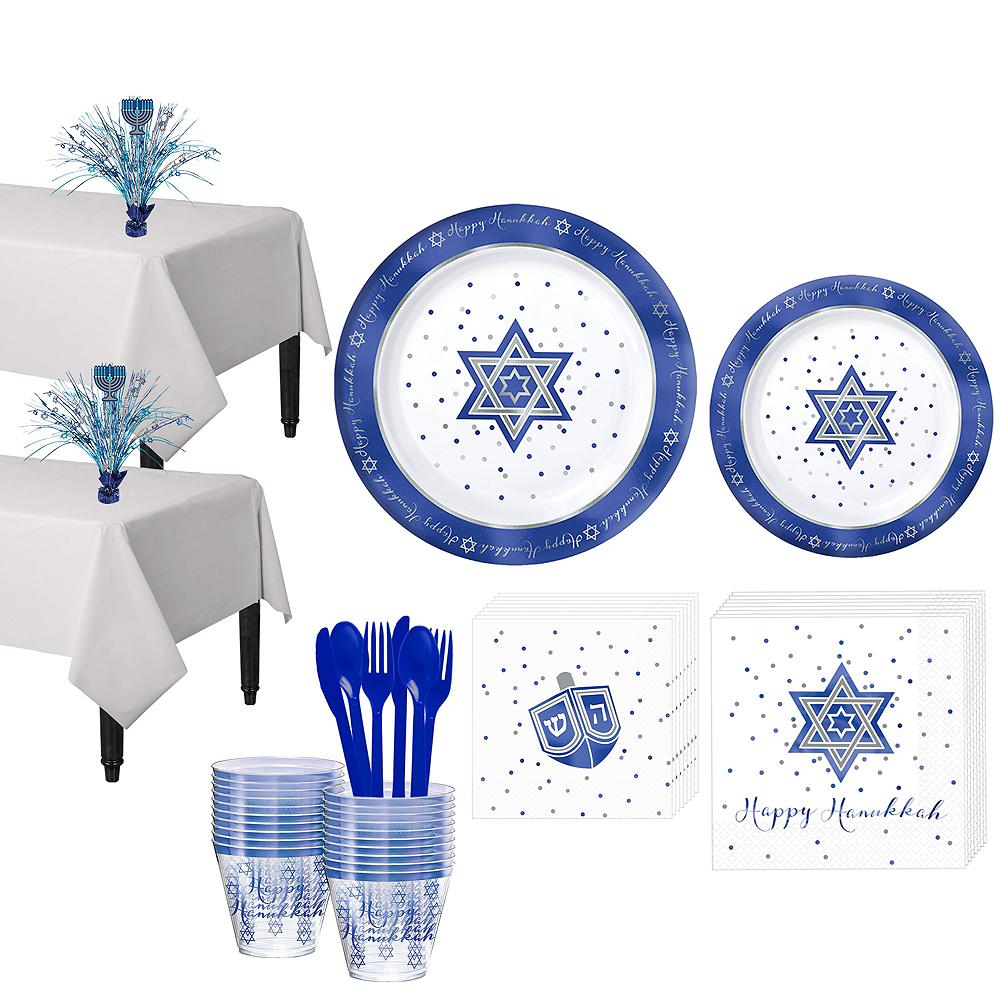 Happy Hanukkah Premium Tableware Kit for 20 Guests Image #1