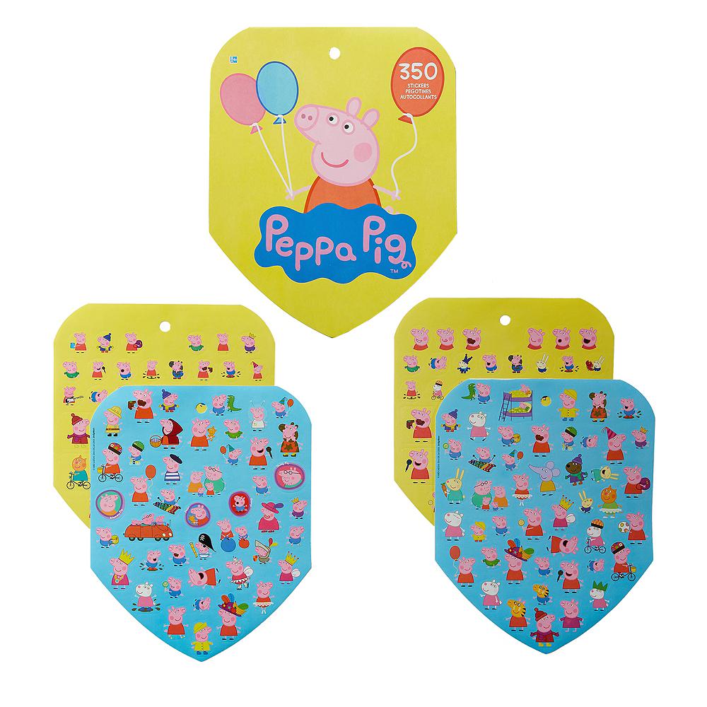 Jumbo Peppa Pig Sticker Book 8 Sheets Image #1