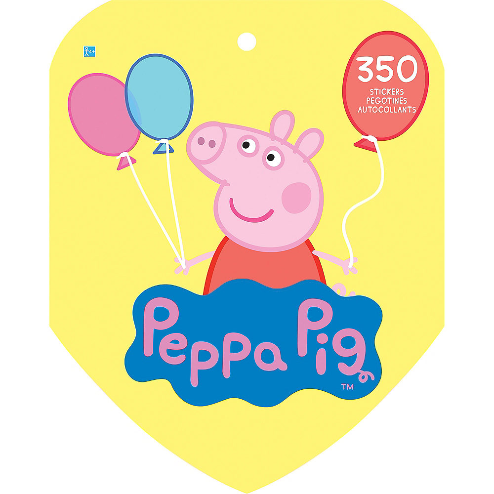 Jumbo Peppa Pig Sticker Book 8 Sheets Image #2