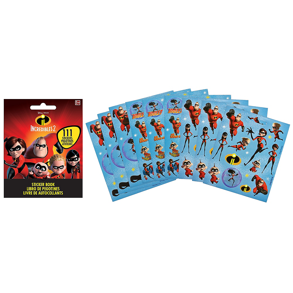 Incredibles 2 Sticker Book 9 Sheets Image #1