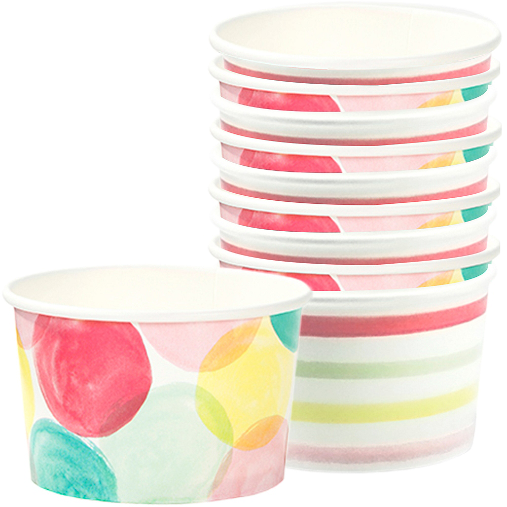 Watercolor Dots & Stripes Treat Cups 10ct Image #1