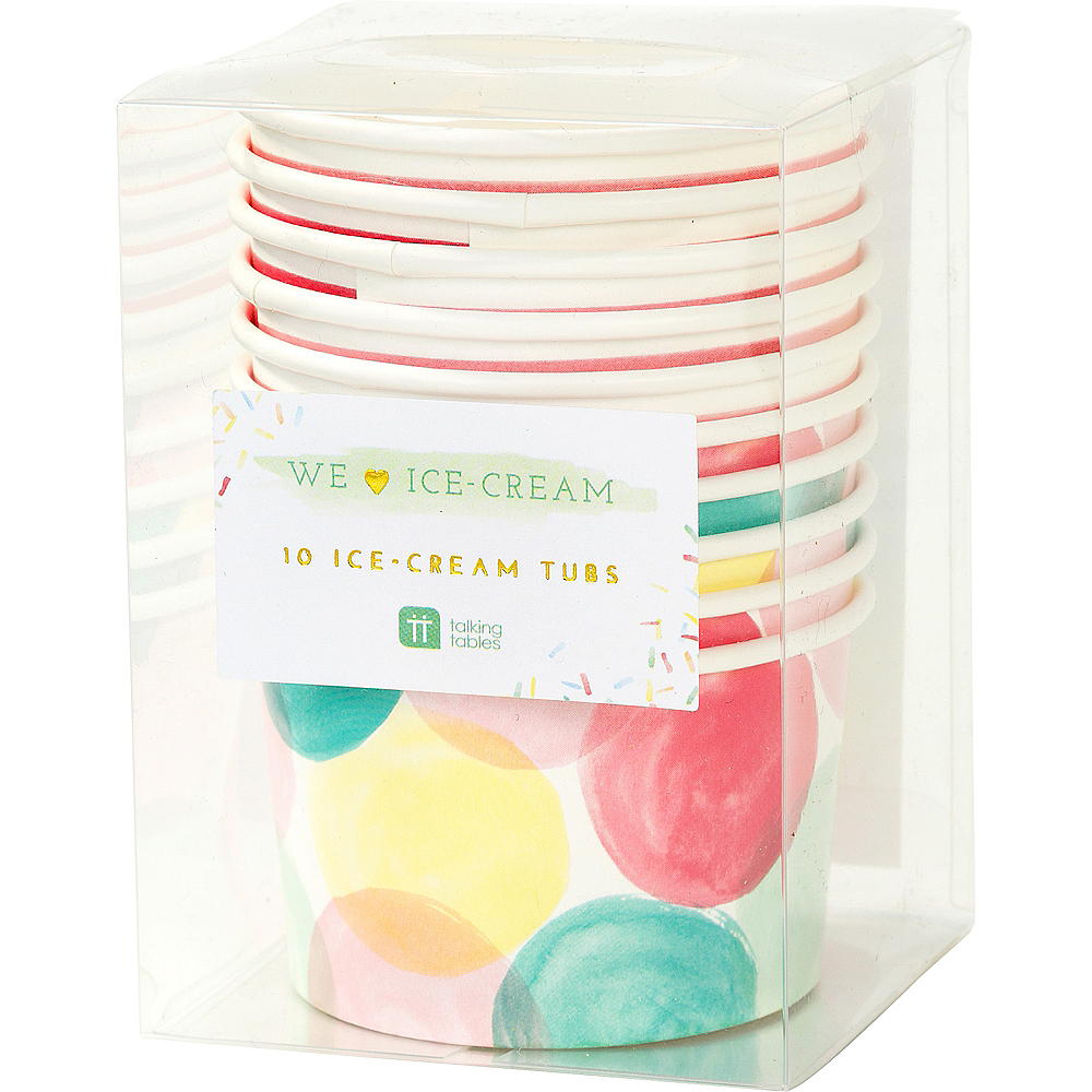 Watercolor Dots & Stripes Treat Cups 10ct Image #2
