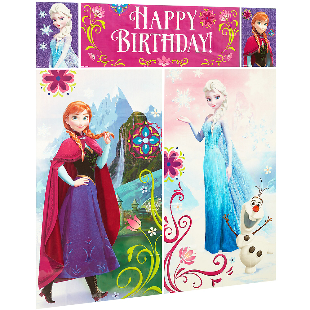 Frozen Scene Setter with Photo Booth Props Image #4