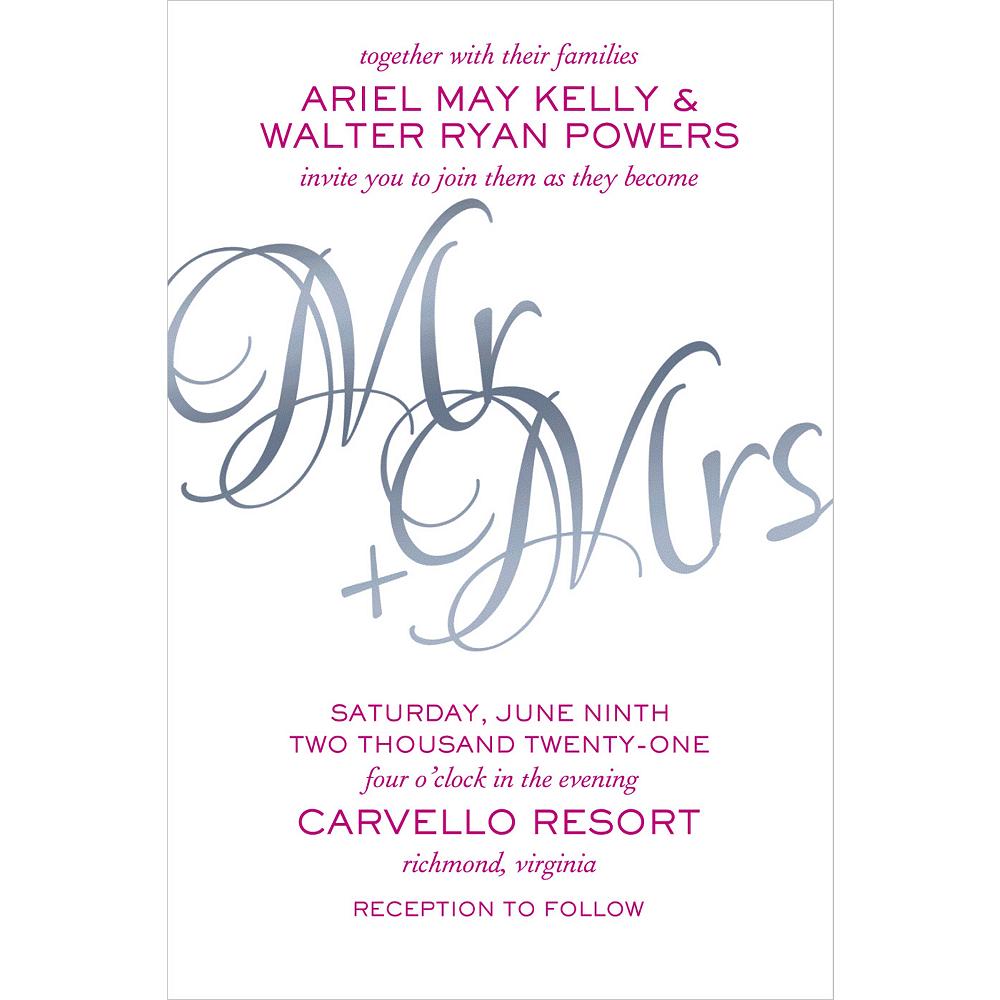 Custom Mr. & Mrs. Wedding Invitation Image #1