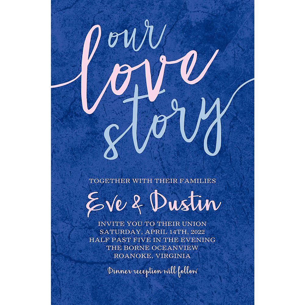 Custom Our Love Story Wedding Invitation  Image #1