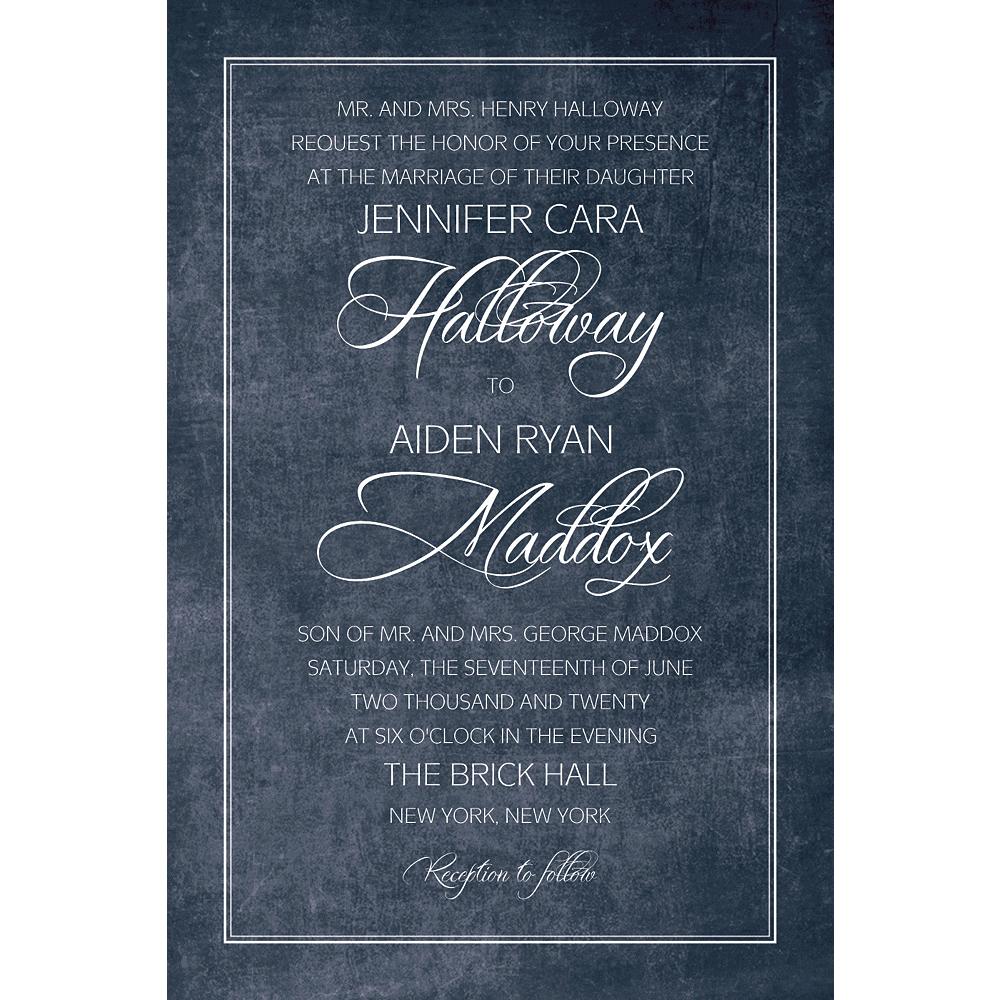 Custom Chalkboard with Border Wedding Invitation Image #1