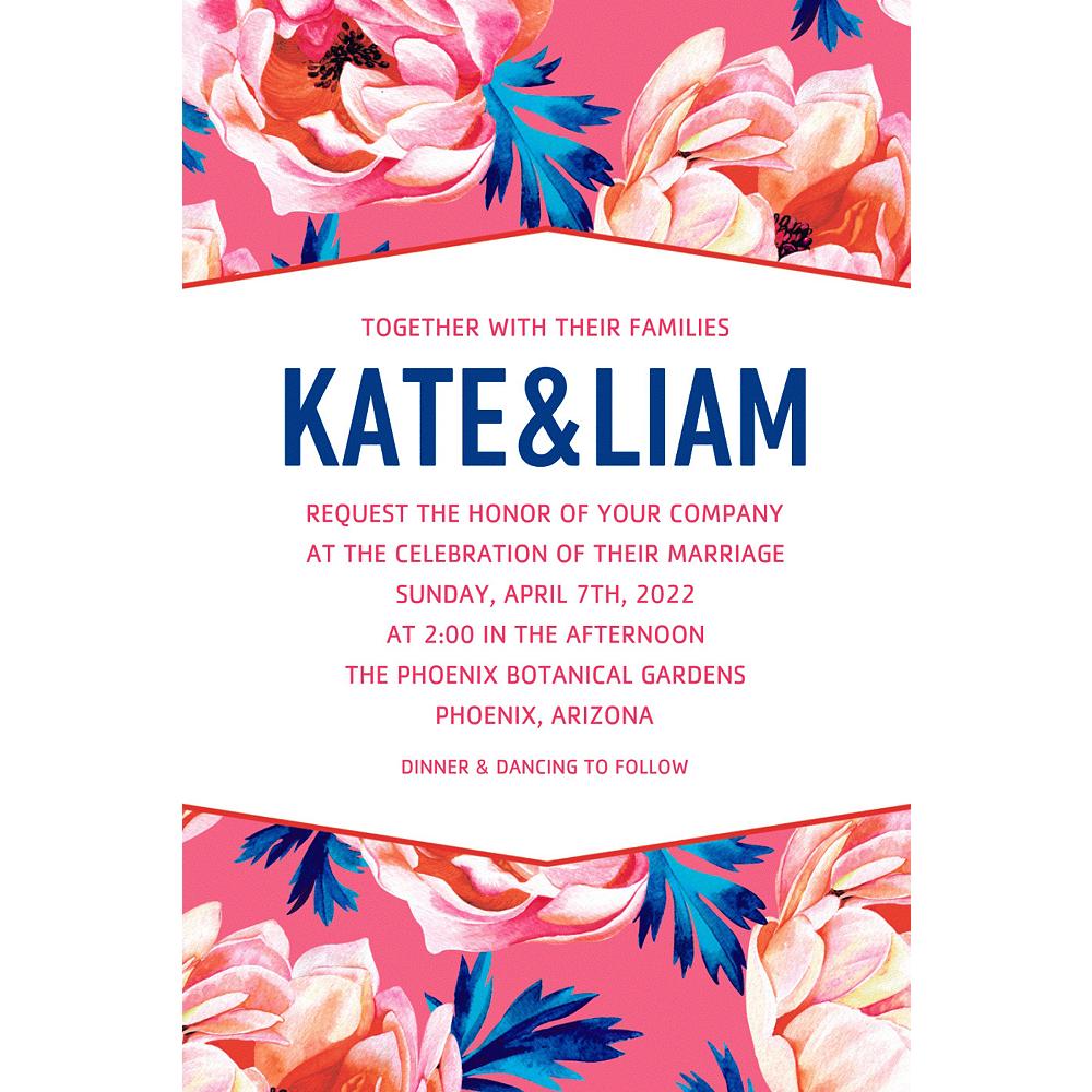 Custom Gala Floral Wedding Invitation Image #1