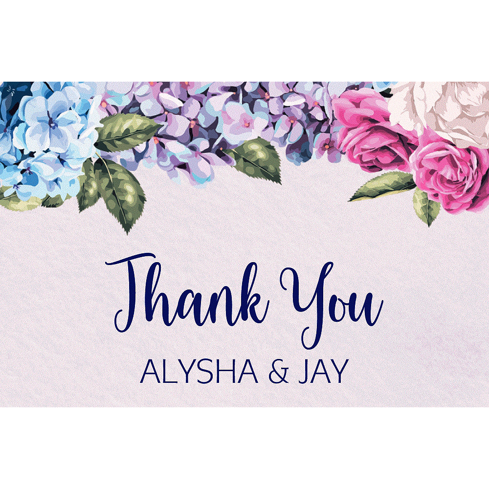 Custom Renaissance Floral Wedding Thank You Note  Image #1