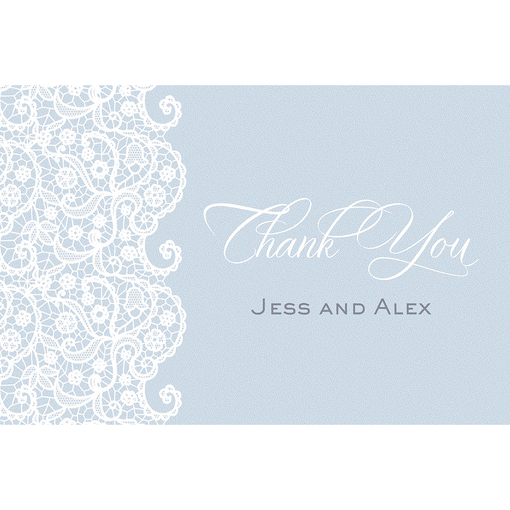 Custom Cool Lace Wedding Thank You Note Image #1