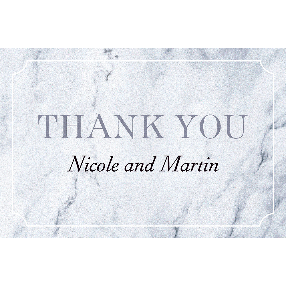 Custom Marble Wedding Thank You Notes Party City