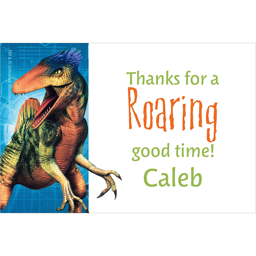 Custom Jurassic World Thank You Note Image #1
