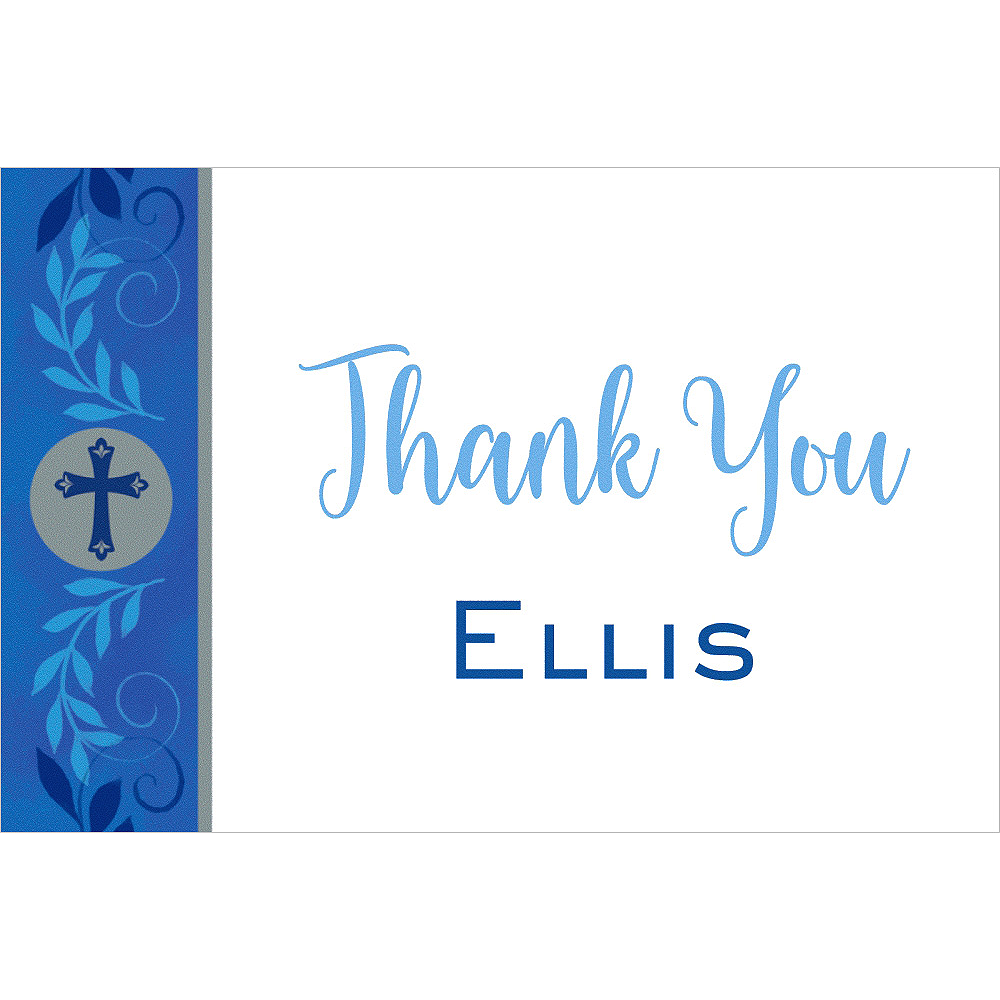 Custom Communion Day Boy Thank You Note Image #1