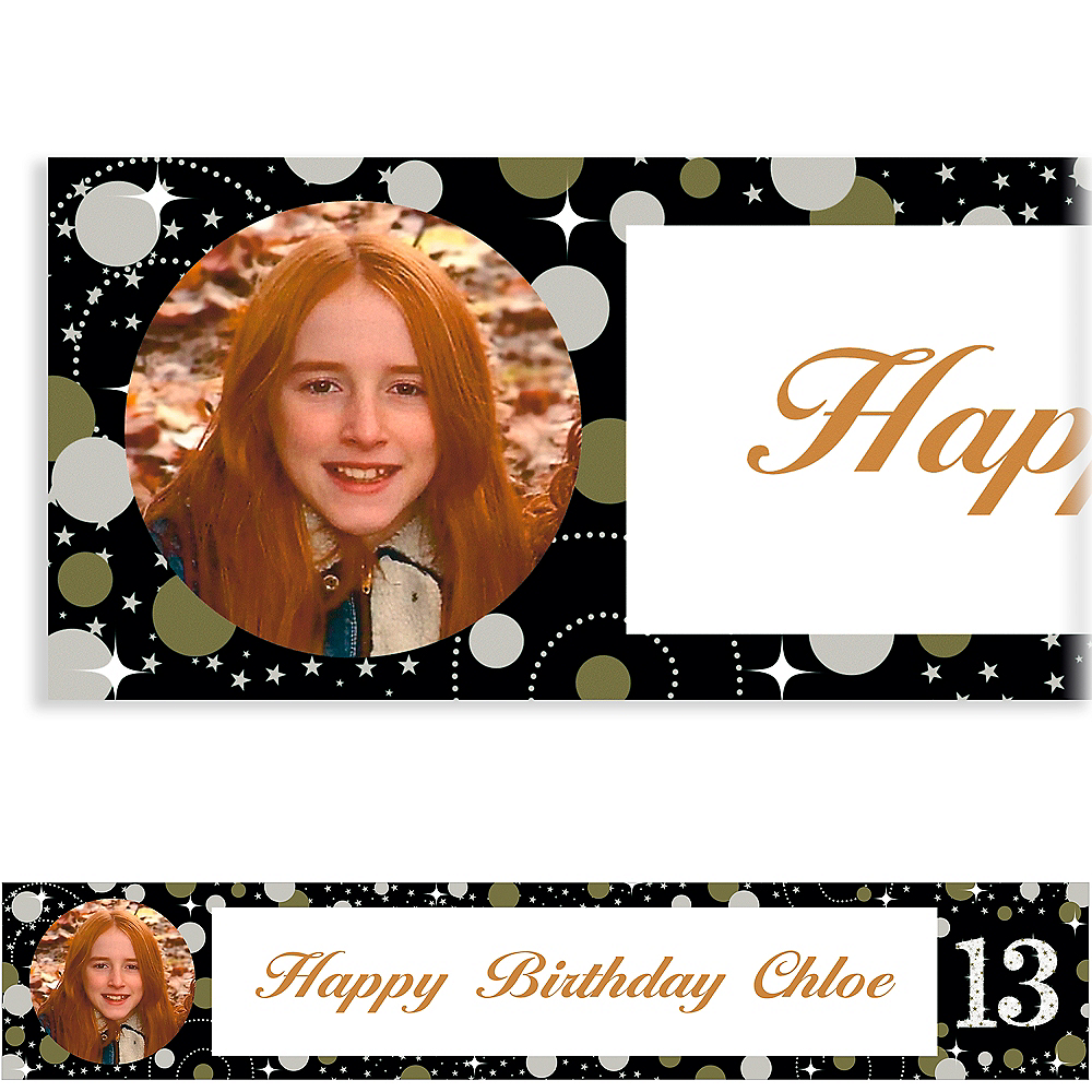 Custom Sparkling Celebration 13 Photo Banner Image #1