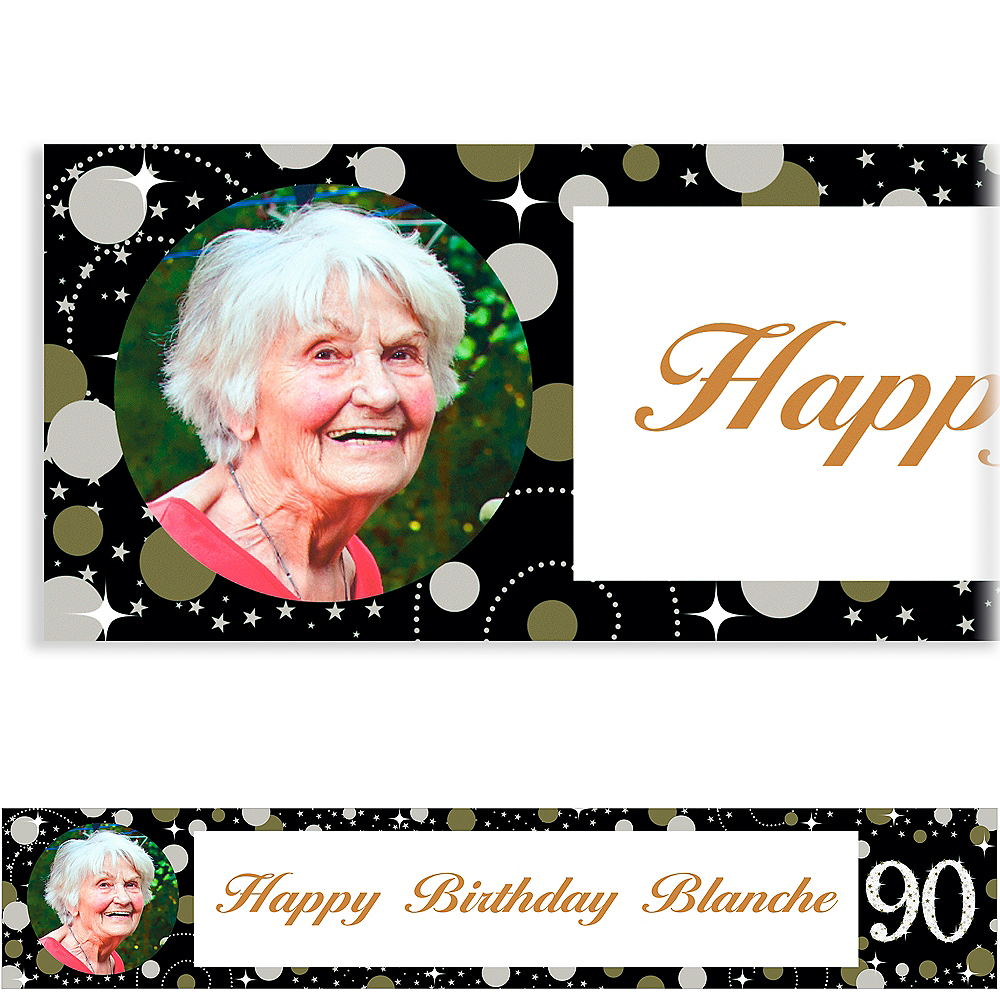 Custom Sparkling Celebration 90 Photo Banner Image #1