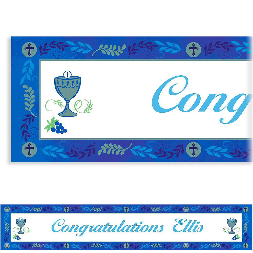 Custom Communion Day Boy Banner Image #1
