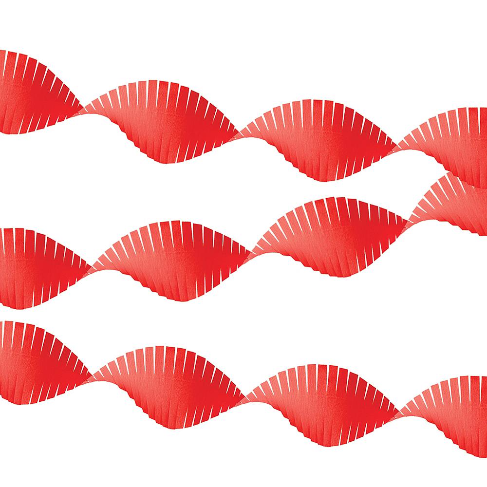 Apple Red Fringe Streamer